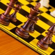 Chess concept with pieces — Stock Photo