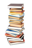 Stack of books isolated on the white — Stok fotoğraf