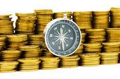 Financial concept - navigating — Stock Photo