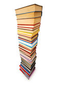 Stack of books isolated — Stock Photo