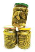 Can of cucumbers isolated — Stock Photo
