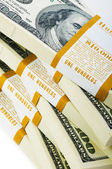 Close up of dollar stacks — Stock Photo