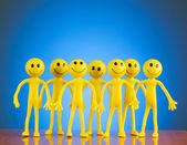 Leadership concept with smilies — Stock Photo