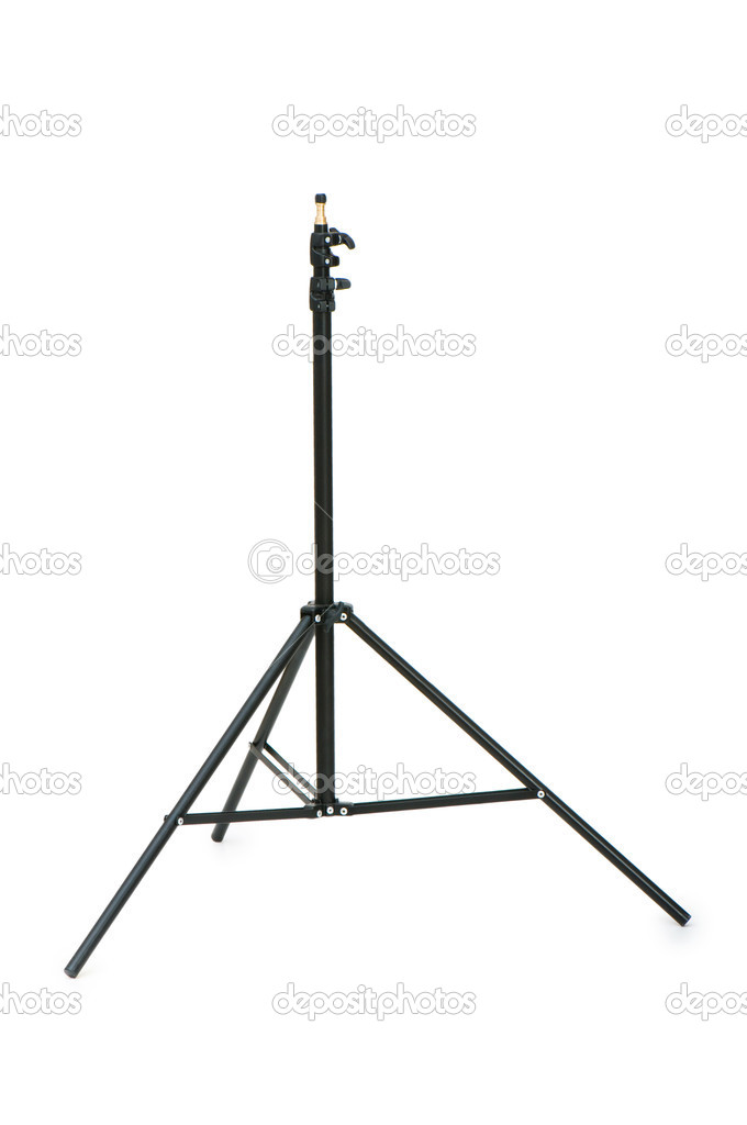 Tripod for studio lighting isolated on the white — Stock Photo #2871797