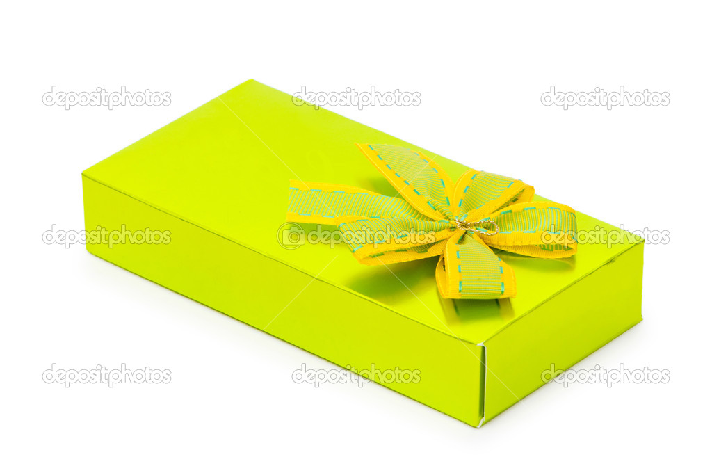 Gift box isolated on the white background — Stock Photo #2872480