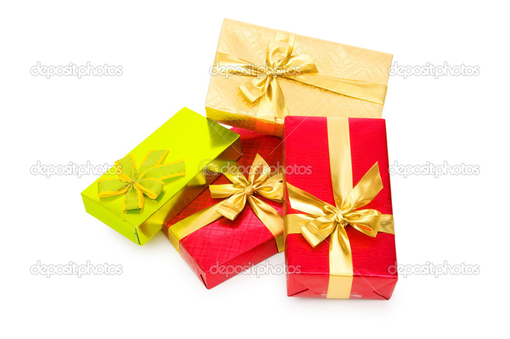 Gift box isolated on the white background — Stock Photo #2872490