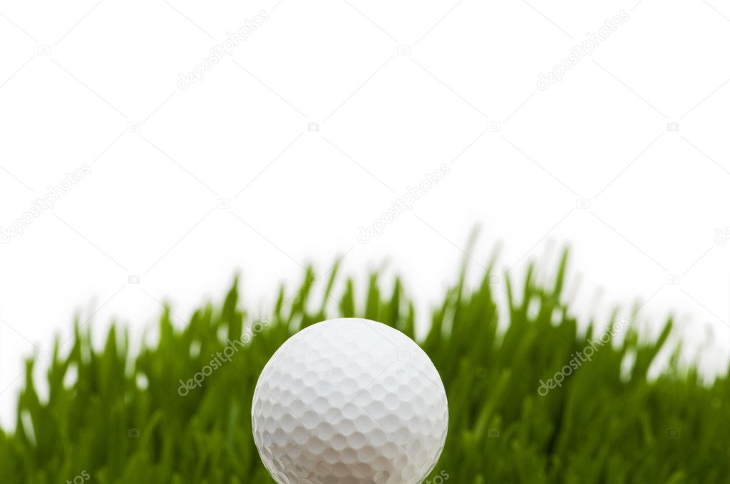 Golf ball on the green grass — Stock Photo #2873081