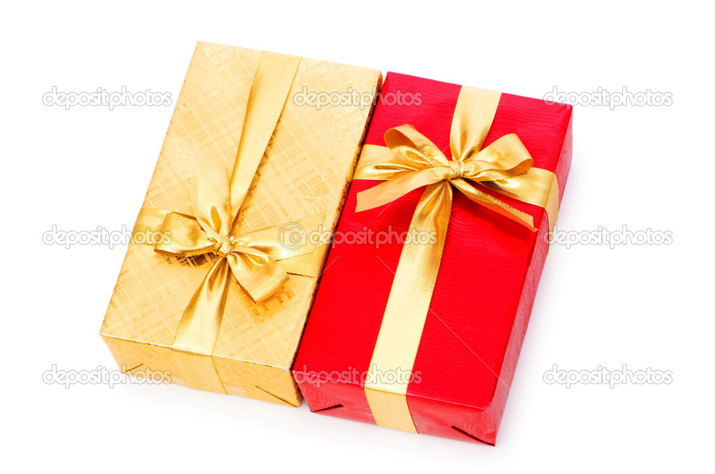 Gift box isolated on the white background — Stock Photo #2873326