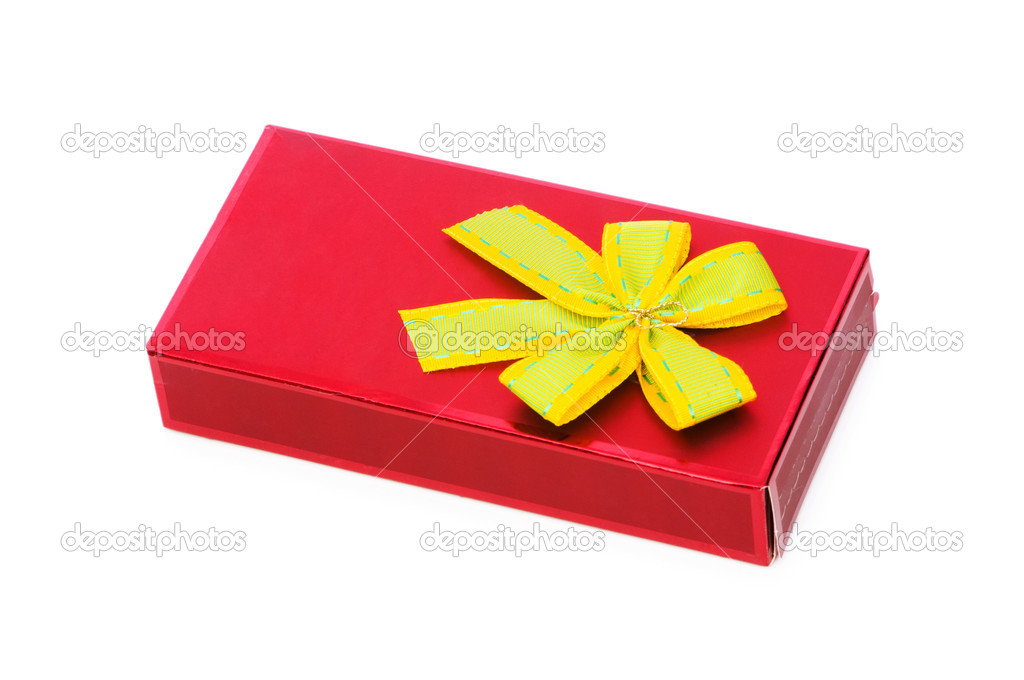 Gift box isolated on the white background — Stock Photo #2874486