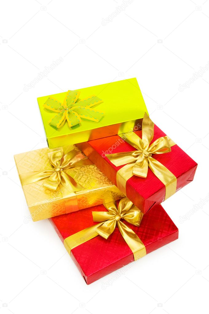 Gift box isolated on the white background — Stock Photo #2875208