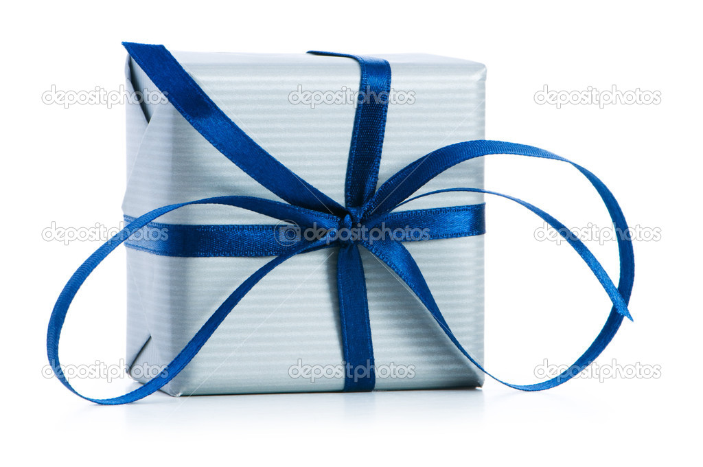 Gift box isolated on the white background — Stock Photo #2875830