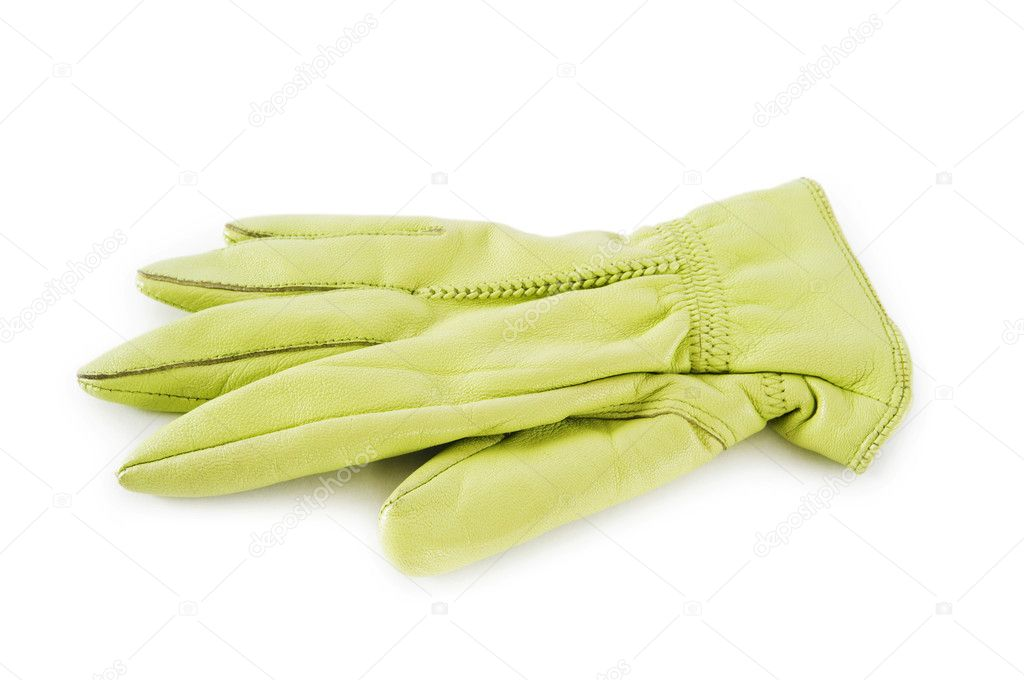 Leather gloves isolated on the white background  Stock Photo #2877176