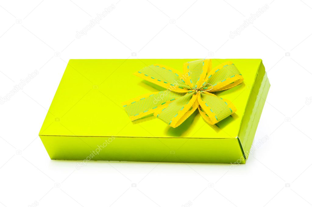 Gift box isolated on the white background — Stock Photo #2877815