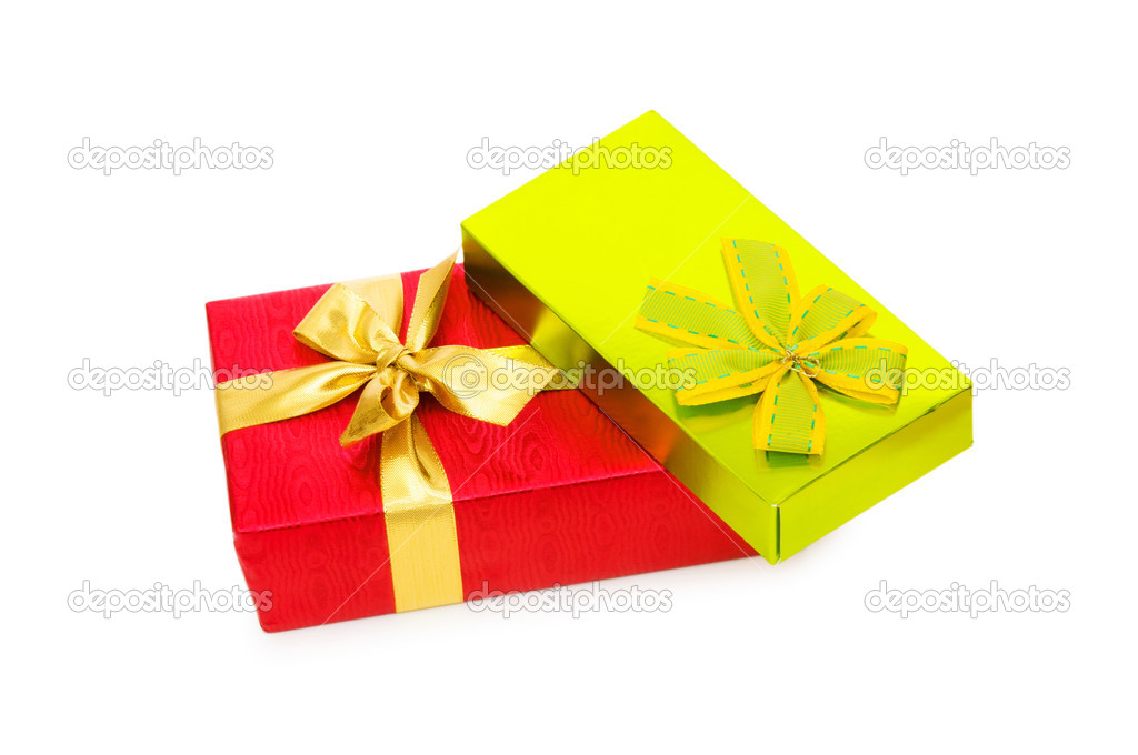 Gift box isolated on the white background — Stock Photo #2877818