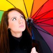 Portrait of young woman with umbrella — Stock Photo #2880234
