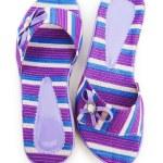 Elegant slippers isolated on the white — Stock Photo #2880250