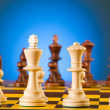 Chess concept with pieces — Stockfoto