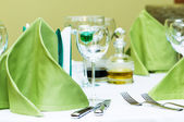 Wine glasses on the table — Stock Photo