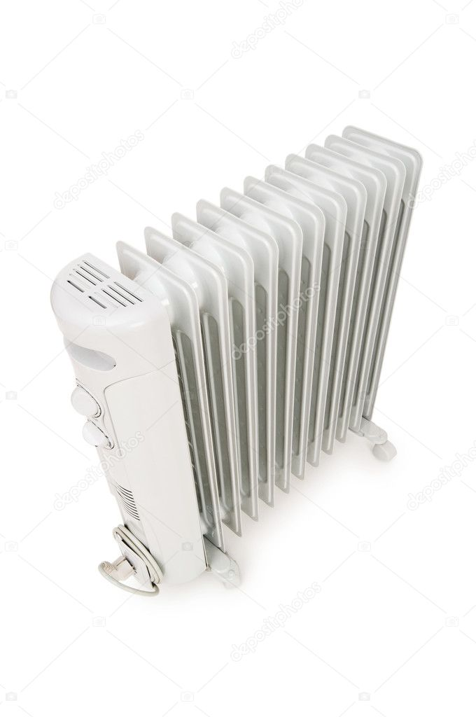 Oil radiator isolated on the white background — Stock Photo #2881809