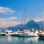Sailing yachts — Stock Photo