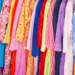 Colour terry dressing gowns — Stock Photo