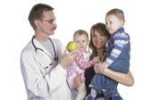 The children's doctor and the small child — Stock Photo