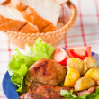 Cutlet with fried potato — Stock Photo #2965020