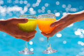 Two glasses with juice — Stock Photo
