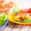 Cutlet with fried potato — Stock Photo #2985164