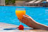 Glass with orange juice — Stock Photo
