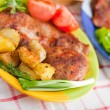 Cutlet with fried potato — Stock Photo #3006633
