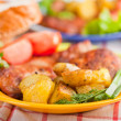 Cutlet with fried potato — Stock Photo #3901646