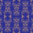Seamless golden pattern - Stock Vector