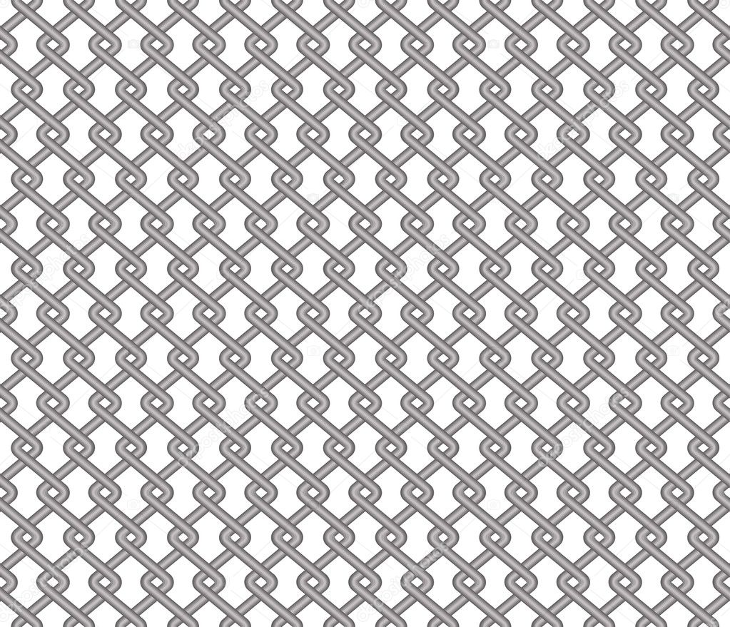 Mesh Fencing Vector Mesh Fence on a White