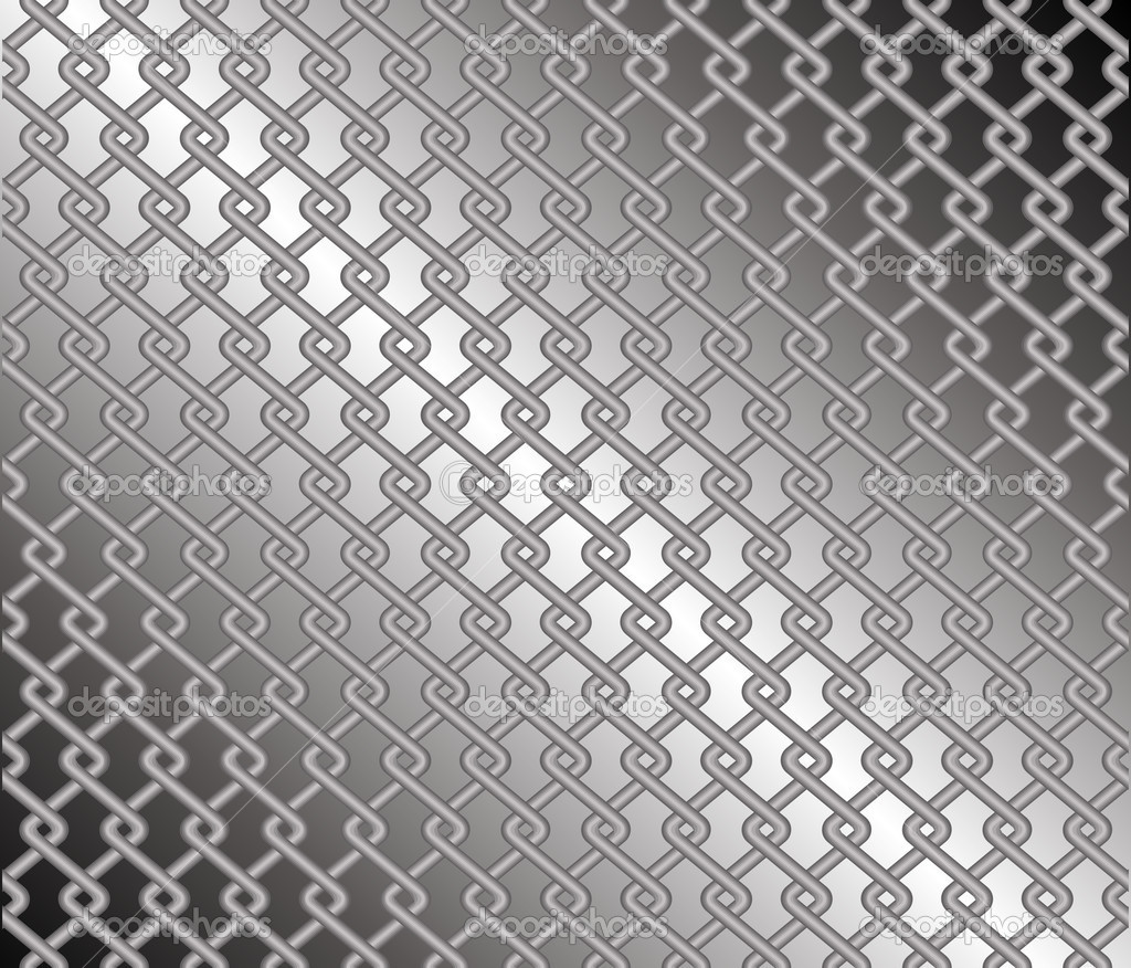 Mesh Fencing Vector Mesh Fence Against a Grey