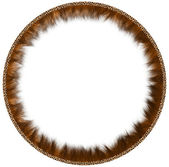 Round fur framework — Stock Photo
