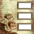 Frames on glamour grunge background — Stock Photo