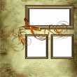 Frames on grunge background with bow — Stock Photo #2698751