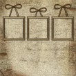 Frames with bow on grunge background — Stock Photo #2698787