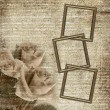 Frames on grunge glamour background — Stock Photo