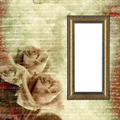 Frame on glamour grunge background — Stok fotoğraf