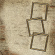 Stock Photo: Frames for photo on grunge background