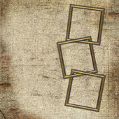 Frames for photo on grunge background — Stock Photo