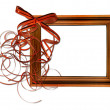 Frame with bow isolated background — Stock Photo #2759557
