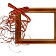 Frame with bow isolated background — Stock Photo
