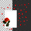 Congratulation card with rose polka dot — Stock Photo