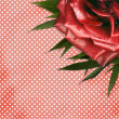 Stock Photo: Grunge background with red rose for design