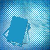 設計のためのシーツを備えたお祝い青いカード — ストック写真