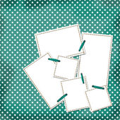Congratulation green card with sheets for design — Stock Photo