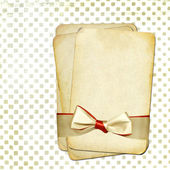 Grunge old papers with bow for design — Stock Photo